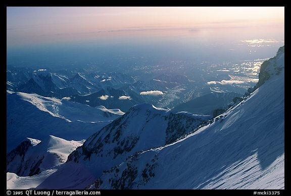 The next day, I would cross the gully and climb the ridge. Denali, Alaska (color)
