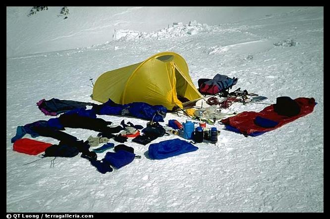 Time to repack my summit gear. Denali, Alaska (color)