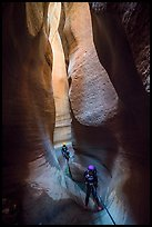 Into the darkness of Keyhole Canyon. Zion National Park, Utah ( color)