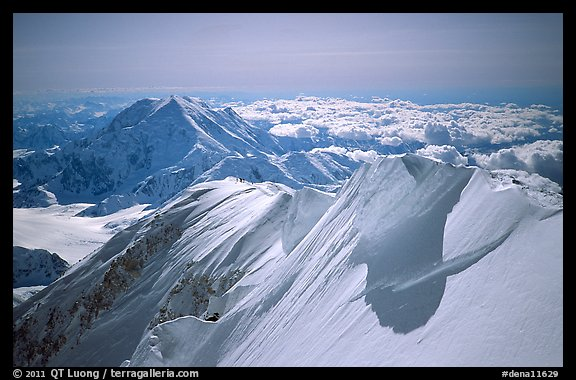 Summit Ridge of Mt McKinley. Denali National Park (color)