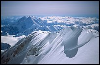 Summit Ridge of Mt McKinley. Denali National Park, Alaska, USA. (color)