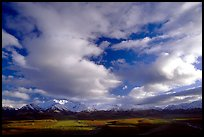 Alaska Range and sky, Polychrome Pass. Denali National Park, Alaska, USA.