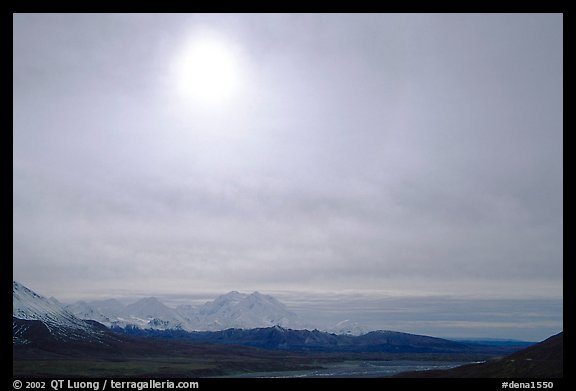 Halo above Alaska Range. Denali National Park, Alaska, USA.