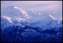 Mt Mc Kinley at sunrise from Denali State Park. Denali National Park, Alaska, USA.
