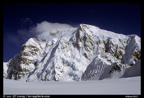 North Face of Mt Hunter. Denali National Park (color)