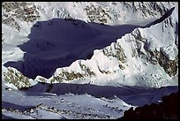 Kahilna peaks seen from 16000ft on Mt McKinley. Denali National Park ( color)