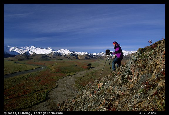Photographer at Polychrome Pass. Denali National Park (color)