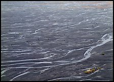 Braids of the McKinley River on sand bar near Eielson. Denali National Park, Alaska, USA. (color)