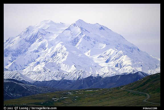 North Face of Mt McKinley above Thorofare Pass. Denali National Park (color)