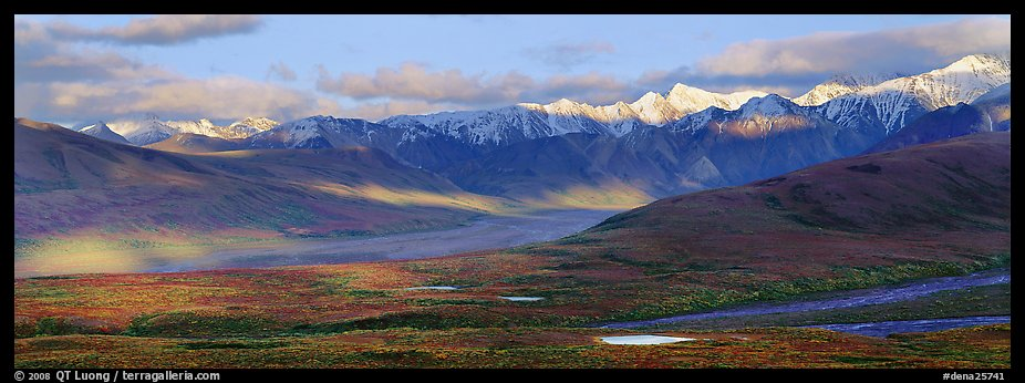 Evening light on Alaska Range. Denali  National Park (color)