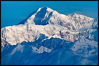 Mt McKinley seen from the south. Denali National Park, Alaska, USA. (color)