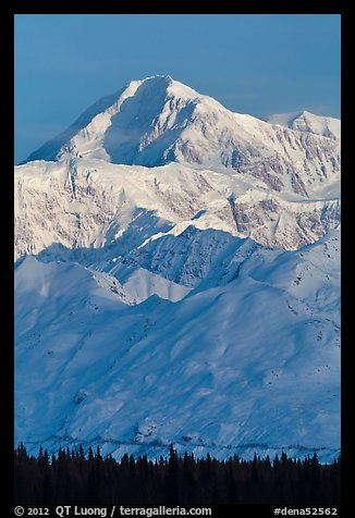 Mt McKinley in winter. Denali National Park (color)