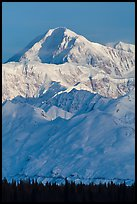 Mt McKinley in winter. Denali National Park, Alaska, USA.