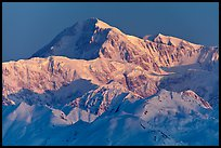 Mt McKinley, winter sunrise. Denali National Park, Alaska, USA.