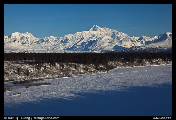 Alaska range in winter, early morning. Denali National Park (color)