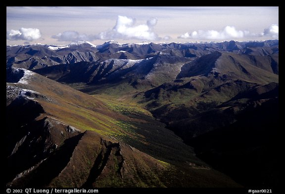 Aerial view of mountains. Gates of the Arctic National Park, Alaska, USA.