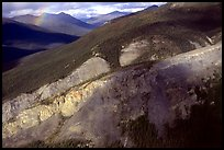 Aerial view of cliff and mountain side. Gates of the Arctic National Park ( color)