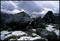 Boulders at the base of Arrigetch Peaks. Gates of the Arctic National Park, Alaska, USA.