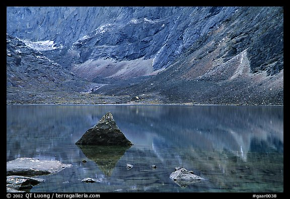 Lake II in Aquarius Valley near Arrigetch Peaks. Gates of the Arctic National Park (color)
