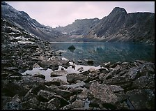 Lake II in Aquarius Valley near Arrigetch Peaks. Gates of the Arctic National Park ( color)