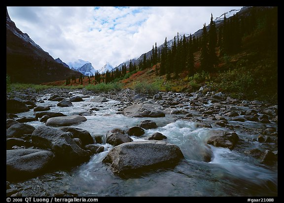 River flowing over boulders, Arrigetch Creek. Gates of the Arctic National Park (color)