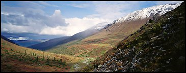 Mountain valley. Gates of the Arctic National Park (Panoramic color)