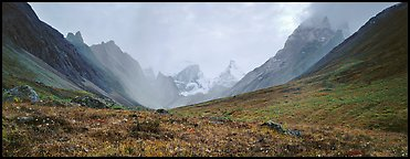 Jagged peaks of the Brooks range. Gates of the Arctic National Park (Panoramic color)