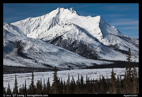 Brooks Range mountains in winter. Gates of the Arctic National Park (color)