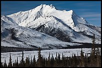 Brooks Range mountains in winter. Gates of the Arctic National Park ( color)