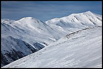 Brooks Range near Aitigun Pass in winter. Gates of the Arctic National Park ( color)