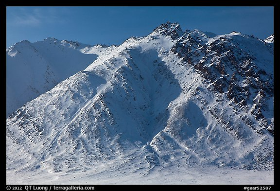 Brooks Range mountains above Artic Plain. Gates of the Arctic National Park (color)