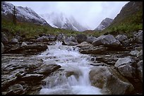 Stream and Arrigetch Peaks. Gates of the Arctic National Park ( color)