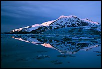 Mt Parker reflected in West arm. Glacier Bay National Park, Alaska, USA. (color)