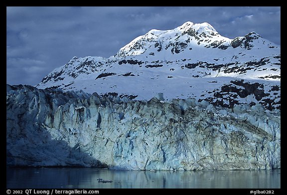 Lamplugh glacier and Mt Cooper. Glacier Bay National Park (color)