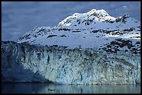 Lamplugh glacier and Mt Cooper. Glacier Bay National Park, Alaska, USA. (color)
