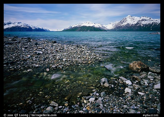 Stream and West arm. Glacier Bay National Park (color)