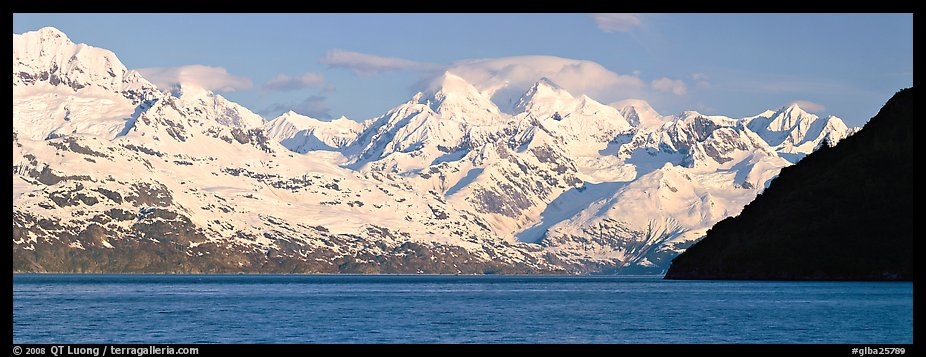 Snow-covered Fairweather mountains. Glacier Bay National Park (color)