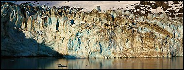 Ice wall. Glacier Bay National Park (Panoramic color)