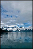 Fairweather range with clearing clouds. Glacier Bay National Park ( color)
