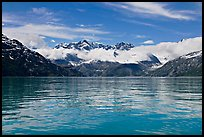 Fairweather range and reflections. Glacier Bay National Park, Alaska, USA. (color)