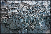 Crevasses and seracs of Reid Glacier. Glacier Bay National Park ( color)