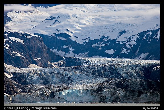 Tidewater glacier, West Arm. Glacier Bay National Park, Alaska, USA.
