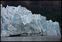 Front of Margerie Glacier against dark mountainside. Glacier Bay National Park ( color)