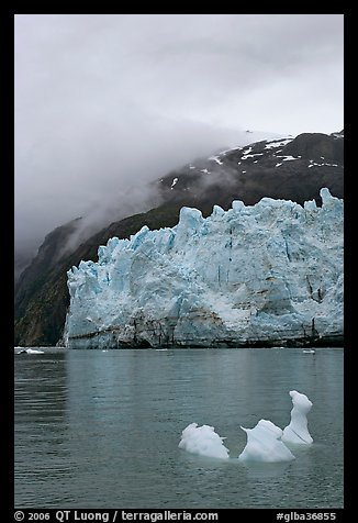 Icerberg at the base of Margerie Glacier. Glacier Bay National Park (color)