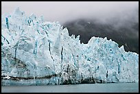 Front of Margerie Glacier in foggy weather. Glacier Bay National Park ( color)