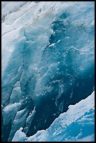 Ice wall detail, Reid Glacier. Glacier Bay National Park, Alaska, USA. (color)