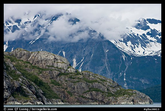 Rocky ridge and snowy peaks, West Arm. Glacier Bay National Park (color)