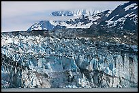 Ice face of Lamplugh glacier. Glacier Bay National Park, Alaska, USA.