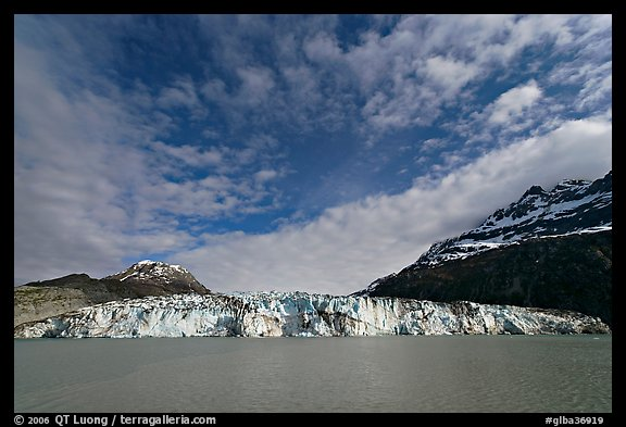 Wide face of Lamplugh glacier. Glacier Bay National Park (color)