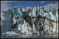 Seracs on the face of Lamplugh glacier. Glacier Bay National Park, Alaska, USA. (color)